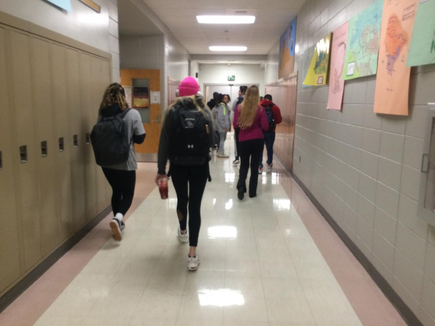 LRHS students utilizing the new dress code policy. Photo courtesy of Iman Ahmed.