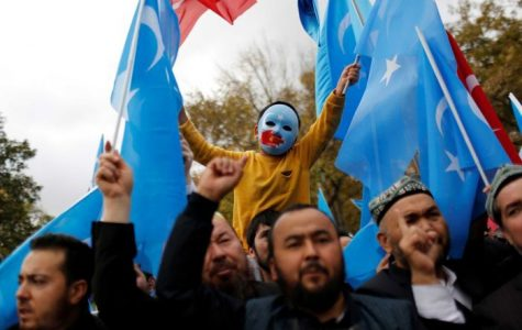 Protesters advocating for the concentration camps to end. Photo courtesy of https://www.abc.net.au/news/2019-07-22/china-report-says-xinjiangs-uyghurs-forced-to-convert-to-islam/11330490.