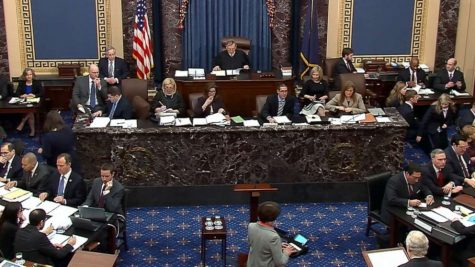 Senate Impeachment Trial in a session. Photo courtesy of https://abcnews.go.com/Politics/trump-impeachment-trial-live-updates-questions-resume-gop/story?id=68639038.