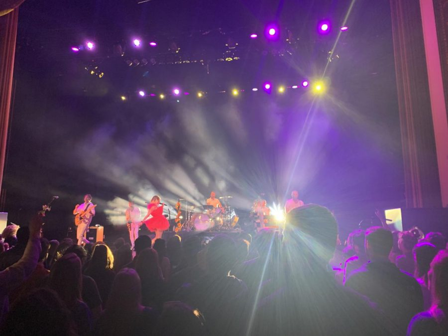 MisterWives on stage at Lincoln Theatre in D.C. Photo courtesy of Tori Ely.