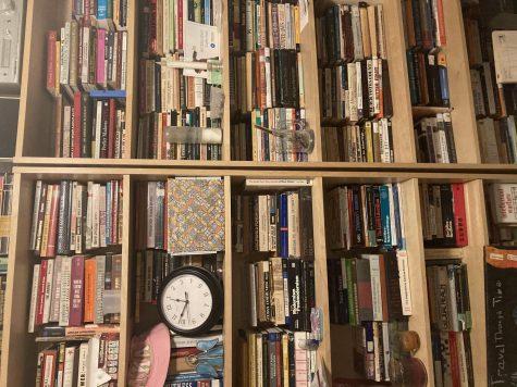 Senior Assata Harris moms bookshelf