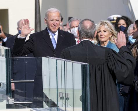 Carulli C. (2021). [President Biden takes oath.] [Photograph] Joint Task Force.